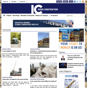 Inside Construction Website