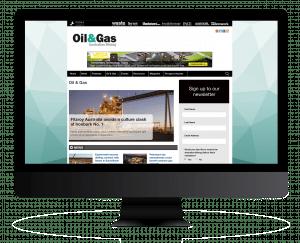 Oil & Gas iMac Mockup